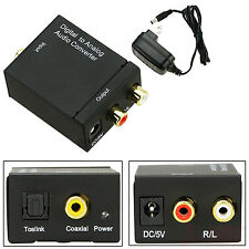 Toslink Coaxial Digital Audio to Analog L/R Adapter Optical RCA Sound Converter