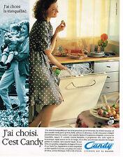 PUBLICITE ADVERTISING 025  1992  CANDY  le  lave vaisselle