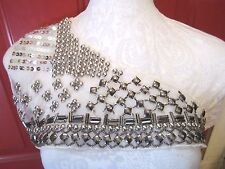 ***OFF SHOULDER - BODICE - STUD - BEAD*** Neckline Applique  **UNIQUE**