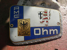 ADAC CLUB AMC OHM - Plakette Car Badge Plaque Kühler Marburg - Biedenkopf