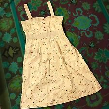 KIMCHI & BLUE (URBAN OUTFITTERS) Ivory Vintage Tiny Floral Print Pocket Dress XS