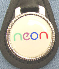 Vintage Dodge NEON Black Leather Keyring 1993 1994 1995 1996 1997 1998 1999