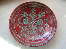 Grosser Wandteller Gmundner Keramik Bauernmalerei rot 33 cm - schwer - wie neu