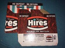 UNUSED HIRES ROOT BEER 6 pack BOTTLE CARRIER Soda Pop Cardboard Advertising Sign