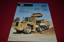 Caterpillar 926E Wheel Loader Dealer's Brochure DCPA6 ver2