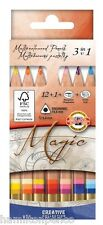 KOH-I-NOOR 3404 MAGIC COLOURED PENCILS - Set of 12 colours with accessories