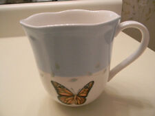 2 Lenox Butterfly Meadow Blue Band - Monarch Butterfly Coffee Tea Mug - New