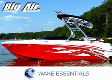 "*Polished Finish* Big Air Cuda Wakeboard Tower - 2.25"" flex reducing aluminum"