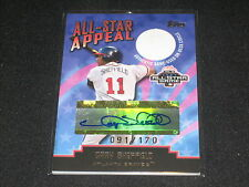 GARY SHEFFIELD LEGEND HAND SIGNED GAME USED ON DECK CIRCLE CARD CERTIFIED /170