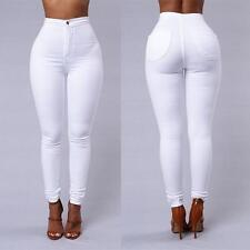 Elegant Sexy Women High Waisted Jeans Soft Skinny Stretchy Pants Slim Jeggings