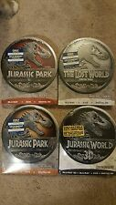 Jurassic Park 1-4 Limited Edition Collectible Tins (Blu-ray) Lost World III 3D