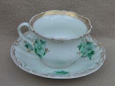 ANTIQUE CONTINENTAL GERMAN KPM BERLIN PORCELAIN CUP & SAUCER