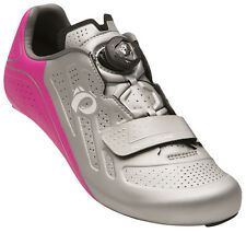 Pearl Izumi Women's Elite Road v5 Boa Carbon Cycling Road Shoes Silver/Pink 41