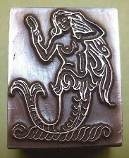 "A ""MERMAID"" PRINTING BLOCK."