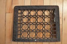 Antique Scrolly Victorian Grate Cold Air Return Floor Art Deco Wall VTG Home