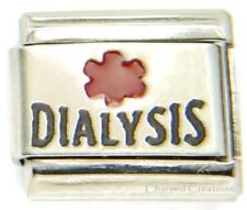 Dialysis Medical Alert Link For 9mm Italian Charm Bracelets Laser Renal Failure