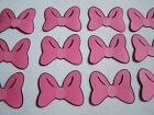Minnie Mouse party favors pink cardstock bows set of 12