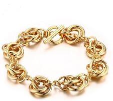 Brand New Stainless Steel Round Link Chain Bracelet Fashion Women Men 8.26''