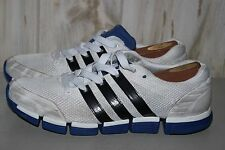 Adidas Men's 13 White Blue Running Jogging Shoes Sneakers Waffle Soles