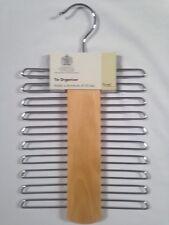 © Russel 20 chrome bar costume cravate ceinture Titulaire Organisateur Rack bois cintre hêtre
