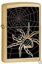 Zippo 6339 spider in web gold dust RARE & DISCONTINUED Lighter