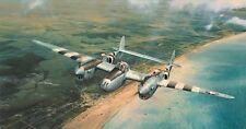 Robert Taylor destaque Edition impresión doolittles D-day Firmado Por 6 Usaaf Pilotos