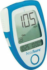 Accu Sure Blood Sugar Glucose Check Monitor + Free 10 Strips AccuSure