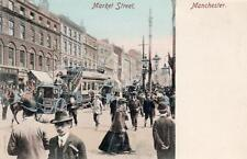 Market Street Manchester Tram early old pc used E Ludwig Baur Thilde series