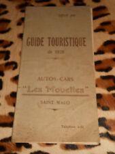 """Guide touristique 1928 - Autos-Cars """" Les Mouettes """" Saint-Malo"""