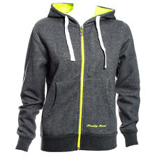 "Bleeding Heart Hoodie Skinny Fit (Grey/Green) - Medium - 36"" RRP £24.99"