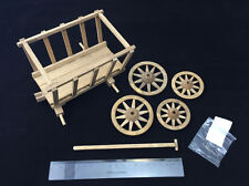 WWII Model Scene Wooden Handcart 1/6 for Action Figure with Four Wheels Barrow