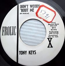 TONY KEYS 45 Don't worry bout me Your love 1964 soul Popcorn PROMO e7926