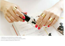 R1390  Fashion Korean Stars Gold Plated 6 pieces Set Women Rings Adjustable  HOT