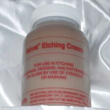 McKay Velvet Etch Professional Etching Cream 4 oz -(118 ml) for Glass + Mirror