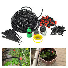 25m DIY Micro Drip Irrigation System Plant Garden Hose Watering Dripper Kit