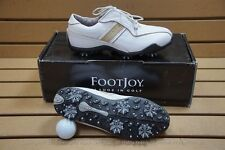 NEW WOMEN'S SIZE 5.5M FOOTJOY LOPRO COLLECTION GOLF SHOES WHITE/BEIGE 138423
