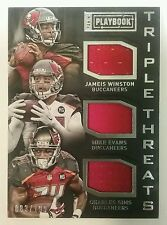 2015 Panini Playbook WINSTON EVANS SIMMS Triple Threats GU Jersey Swatch /199