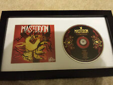 MASTODON The Hunter SIGNED AUTOGRAPHED FRAMED CD BOOK ALL 4 MEMBERS #A