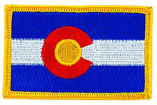 FLAG PATCH PATCHES COLORADO  IRON ON EMBROIDERED UNITED STATES USA STATE