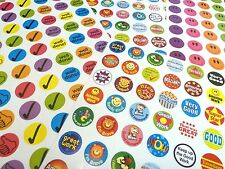 NEW REWARD PACK 280 MOTIVATION MERIT STICKERS TICKS SMILEY FACES WELL DONE 547