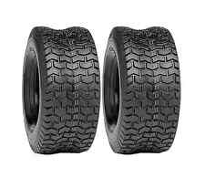 (2) New 15x6.00-6 TURF TIRES 4 Ply Tubeless Lawn Mower / Garden Tractor/ Rider