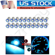 20X BA9S 1895 57 Ice Blue SMD LED Dash Indicator Panel Guage Light Bulb For Ford