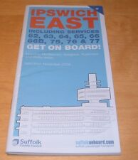 IPSWICH EAST SUFFOLK COUNTY BUS TIMETABLE  - WINTER 2009 - BRAND NEW AND UNUSED