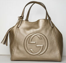 Gucci Soho Leather Shoulder Bag Handbag Gold