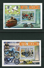 Chad Tchad 2013 MNH Motorcycles 2x Deluxe S/S Motos Harley Davidson Ducati Elvis