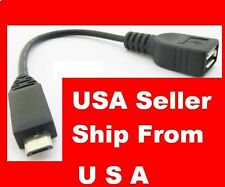 5pcs Micro USB B Male to USB 2.0 A Female OTG Adapter Converter Cable LG Samsung
