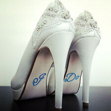 I Do Diamante / Rhinestone  Shoe Applique Sticker Something Blue Wedding Crystal