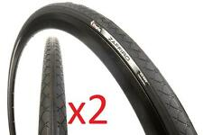 "2x Vittoria 27x1-1/8"" Zaffiro Training Road Tyre 28-630 26tpi 27"" BLACK 450g"