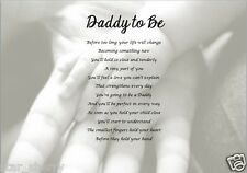 DADDY TO BE - poem (Laminated Gift)