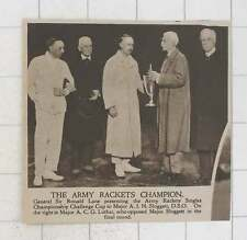 1920 Army Rackets Champion Major Sloggett